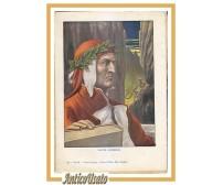 DANTE ALIGHIERI Stampa a colori 1940 Tancredi Scarpelli Illustrazione Incisione