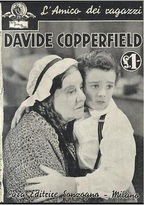 DAVIDE COPPERFIELD foto tratte film MGM 1936 Sonzogno racconto cinematografico