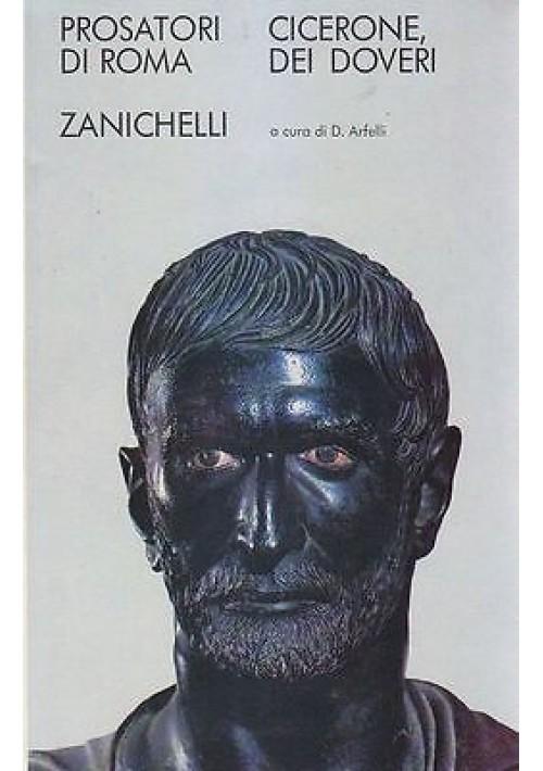 DEI DOVERI di Cicerone Zanichelli Editore. 1969