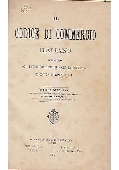DELLA CAMBIALE E DELL'ASSEGNO BANCARIO di David Supino 1884 Bocca