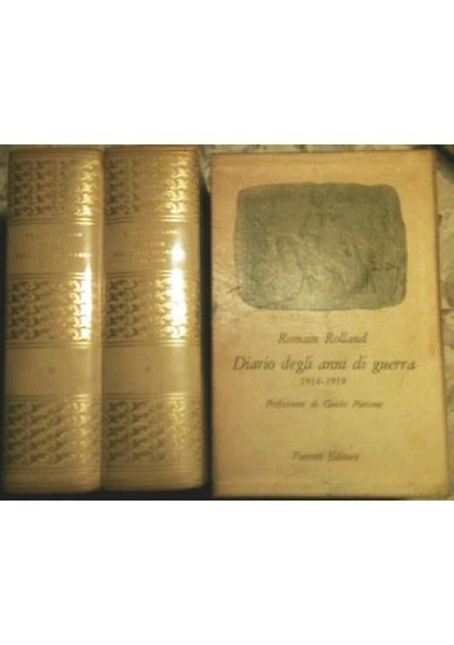 DIARIO DEGLI ANNI DI GUERRA 1914-1919 di Romain Rolland - 2 volumi in cofanetto