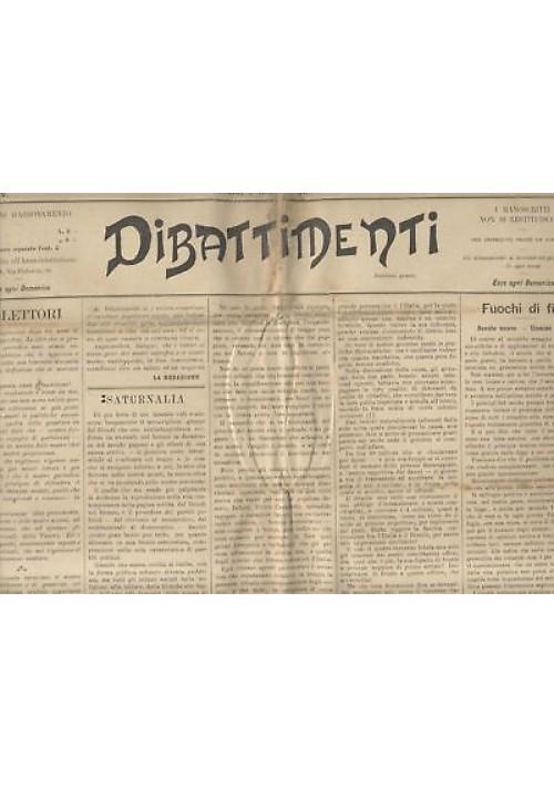 DIBATTIMENTI ANNO IV 1901 , 33 NUMERI rarissimo diritto