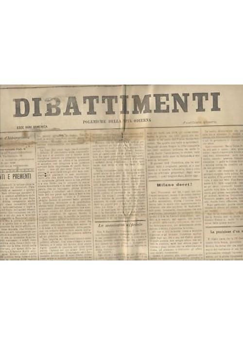 DIBATTIMENTI ANNO V 1902 , 20 NUMERI rarissimo diritto