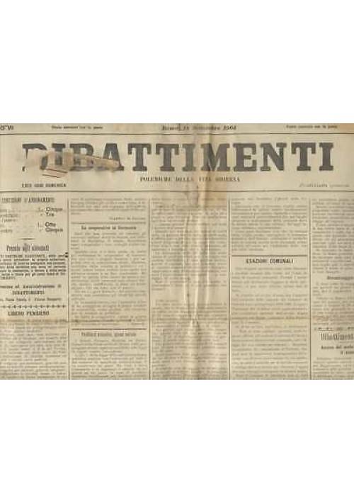 DIBATTIMENTI ANNO VII 1904  9 NUMERI rarissimo Giornale settimanale di diritto