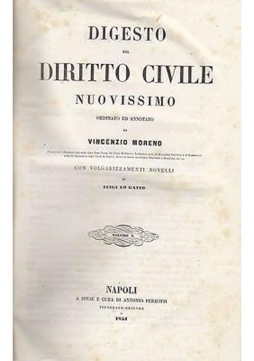 DIGESTO DEL DIRITTO CIVILE NUOVISSIMO VOL I Vincenzo Moreno - regno due Sicilie