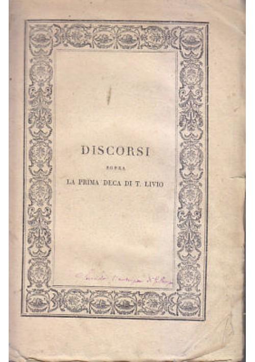 DISCORSI DI NICCOLÒ MACHIAVELLI SOPRA LA PRIMA DECA DI TITO LIVIO Vol.II 1824