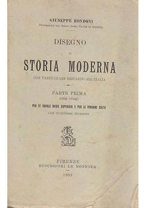 DISEGNO DI STORIA MODERNA CON PARTICOLARE RIGUARDO ALL'ITALIA  Giuseppe Rondoni