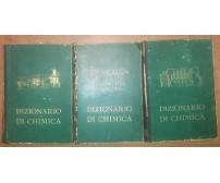 DIZIONARIO DI CHIMICA generale industriale 3 volumi di Michele Giua 1948 UTET *