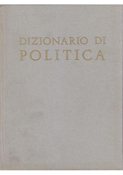 DIZIONARIO DI POLITICA diretto da Bobbio - Matteucci - Pasquino 1983 UTET