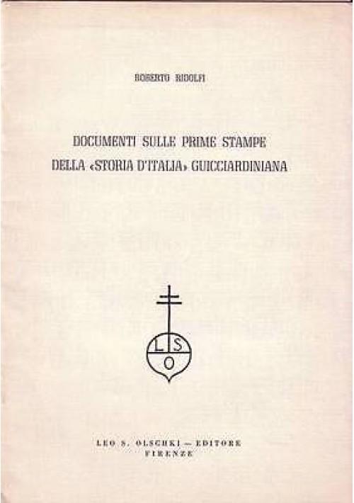 DOCUMENTI SULLE PRIME STAMPE DELLA