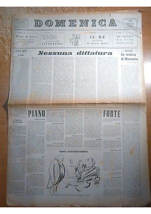 DOMENICA 29 OTTOBRE 1944 ANNO I N 13 nessuna dittatura - Processo Mussolini