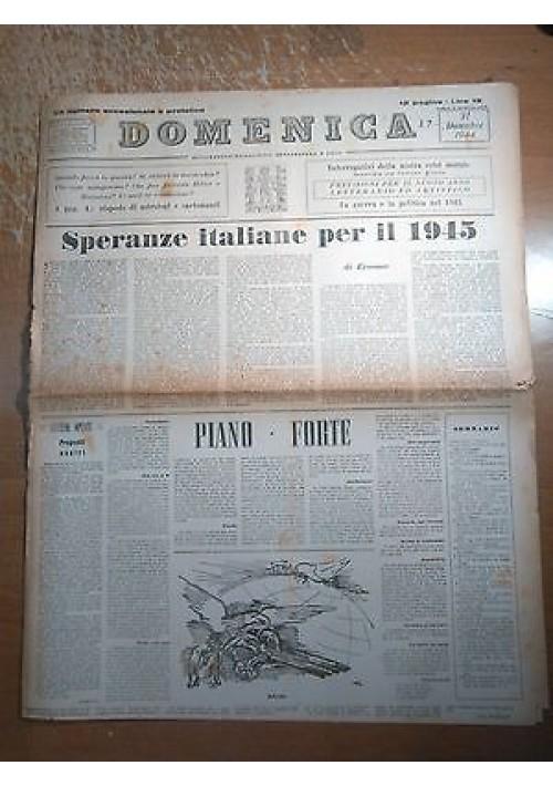 DOMENICA 31 DICEMBRE 1944 ANNO I N 22 SETTIMANALE DI POLITICA LETTERATURA E ARTE