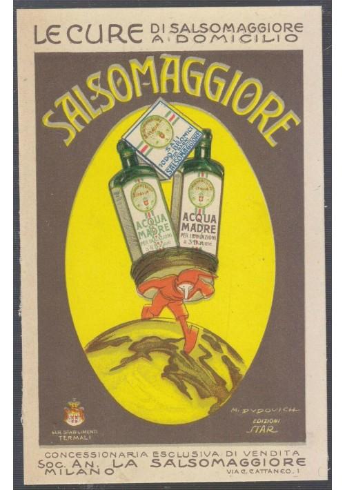 DUDOVICH SALSOMAGGIORE cartoncino pubblicitario -  formato piccolo