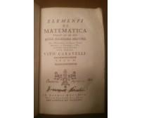 ELEMENTI DELLE SEZIONI CONICHE Vito Caravelli 1792 Raimondi vol.6  matematica