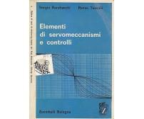 ELEMENTI DI SERVOMECCANISMI E CONTROLLI Barabaschi Tasselli  1970 Zanichelli *
