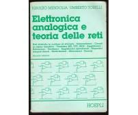 ELETTRONICA ANALOGICA E TEORIA DELLE RETI Mendolia Torelli 1987 Hoepli *