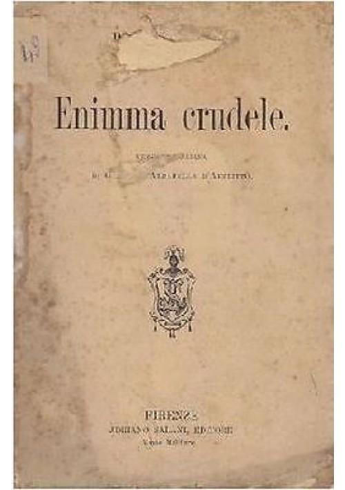 ENIMMA CRUDELE di Paolo Bourget 1900 Salani editore
