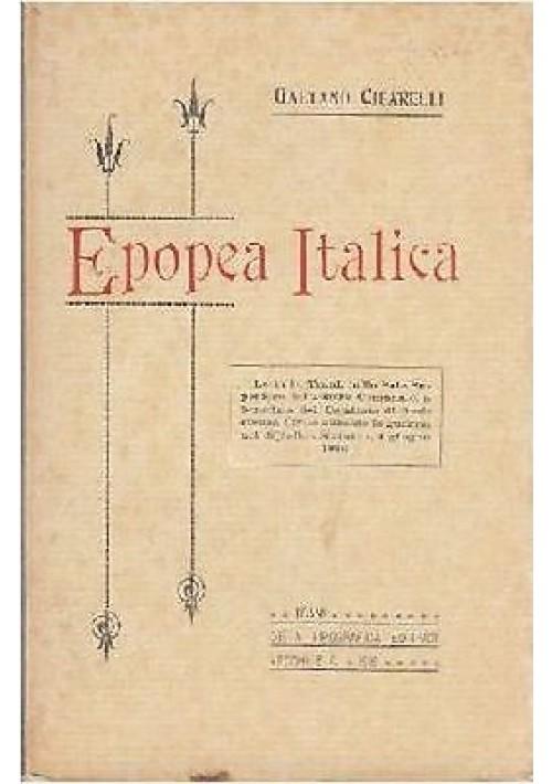 EPOPEA ITALICA di Gaetano Cifarelli - Trani 1916 Vecchi editore