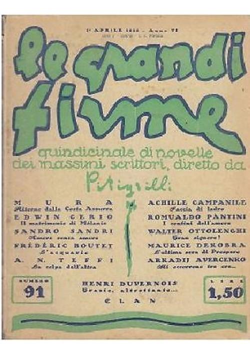 FACCIA DI LADRO di Achille Campanile Le grandi firme anno VI n 91 1 aprile 1928