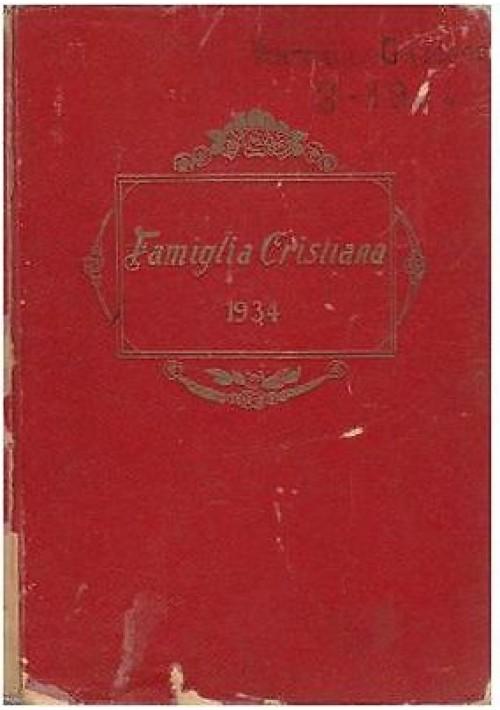 FAMIGLIA CRISTIANA (IL DIVIN MAESTRO) 1934 annata completa 52 fascicoli