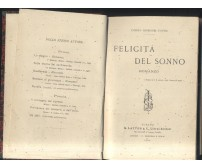 FELICITà DEL SONNO romanzo di Cosimo Giorgieri Contri 1904 Lattes