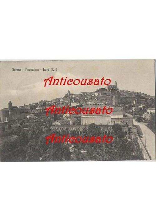 FERMO PANORAMA LATO NORD - CARTOLINA ORIGINALE VIAGGIATA 1913 formato piccolo