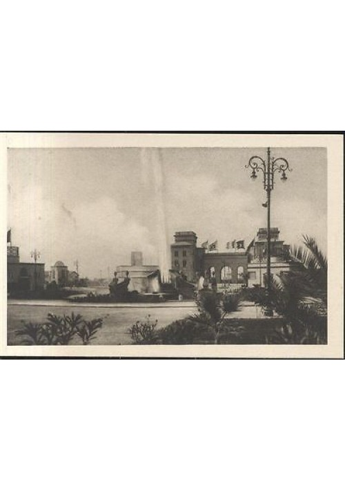 FIERA DEL LEVANTE CARTOLINA LA POTENZA DELL'ACQUEDOTTO PUGLIESE FORSE 1930