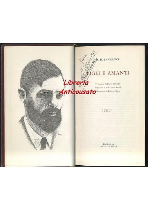 FIGLI E AMANTI di D. H. Lawrence - Orpheus 1971 - illustrato da Pauline Ellison