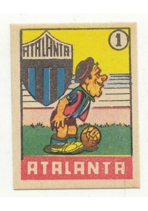 FIGURINA calcio ATALANTA mascotte scudetto 1949 Originale Nannina vintage epoca
