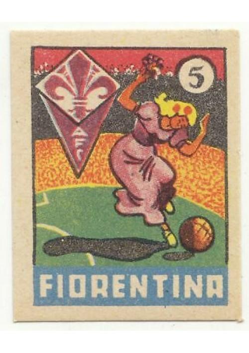FIGURINA calcio FIORENTINA mascotte scudetto 1949 Originale Nannina vintage