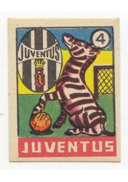 FIGURINA calcio JUVENTUS mascotte scudetto 1949 Originale Nannina vintage epoca