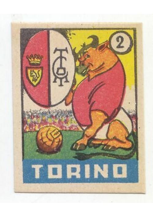 FIGURINA calcio TORINO mascotte scudetto 1949 Originale Nannina vintage d'epoca