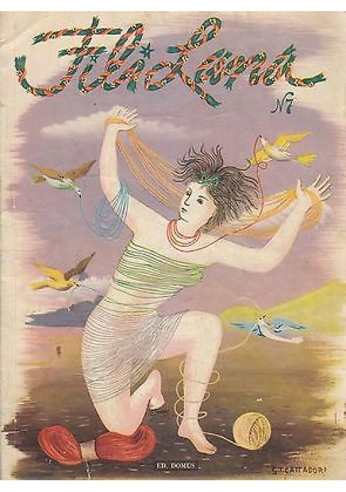 FILI LANA N. 7   Editoriale Domus  1 Settembre 1950 -pubblicità Boccasile
