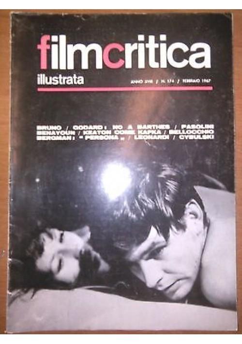 FILMCRITICA ILLUSTRATA N 174 febbraio 1967 Godard Barthes Pasolini Bergman