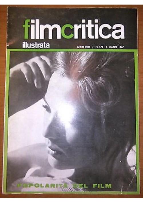 FILMCRITICA ILLUSTRATA N 175 marzo 1967 popolarità del film