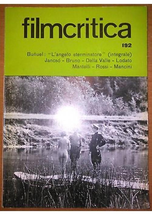 FILMCRITICA N 192 ottobre novembre 1968 angelo sterminatore di Bunuel integrale