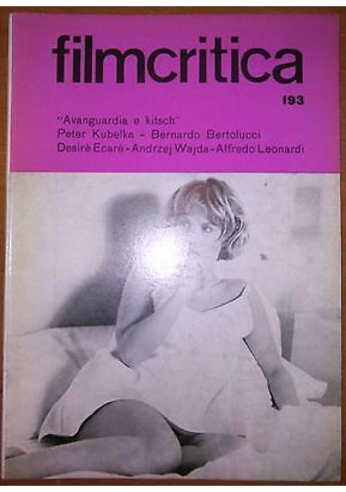 FILMCRITICA N 193 dicembre 1968 kubelka Bertolucci Ecarè ajda Leonardi kitsch