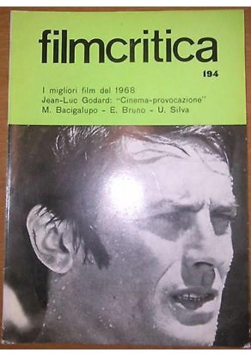 FILMCRITICA N 194 gennaio 1969 Godard cinema provocazione Bacigalupo Bruno Silva