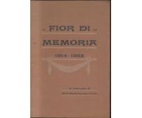 FIOR DI MEMORIA poesie in dialetto barese di Giovanni Laricchia 1923 Casini
