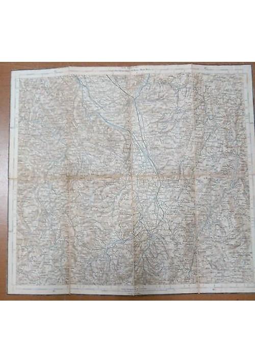 FOLIGNO SPOLETO BEVAGNA TREVI MONTEFALCO carta geografica anni '40?