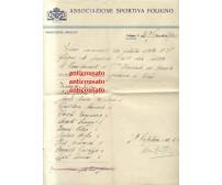 FOLIGNO calcio lettera intestata 1933 Autografo Bruno Monti partita