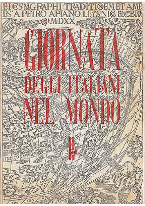 GIORNATA DEGLI ITALIANI NEL MONDO - Società Nazionale Dante Alighieri 1940