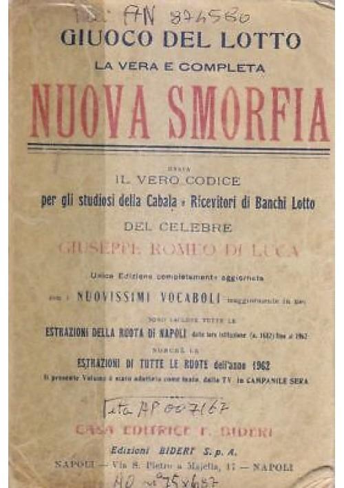 GIUOCO DEL LOTTO LA VERA E COMPLETA NUOVA SMORFIA Giuseppe Romeo Di Luca 1963 *