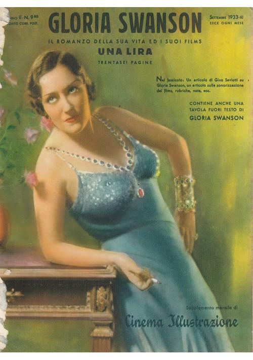 GLORIA SWANSON 1933 Cinema illustrazione romanzo della sua vita ed i suoi films