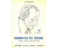 GRAMMATICA DEL DISEGNO G Ronchetti 1980 Hoepli manuali 14° edizione