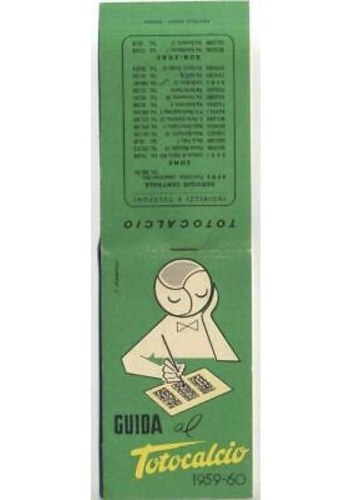 GUIDA AL TOTOCALCIO 1959 1960 - fratelli Pozzo editori