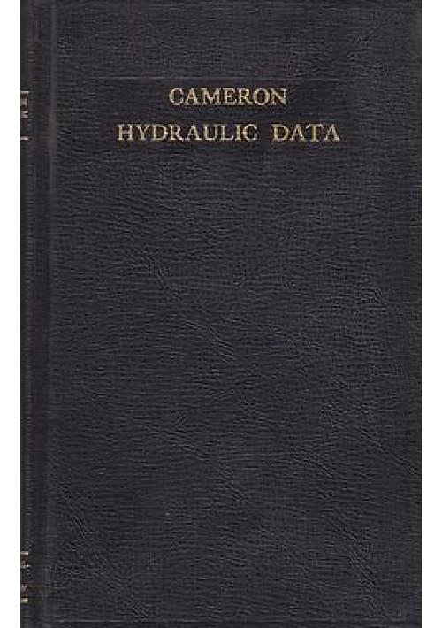 HYDRAULIC DATA di G. Shaw - Ingersoll- Rand editore 1965