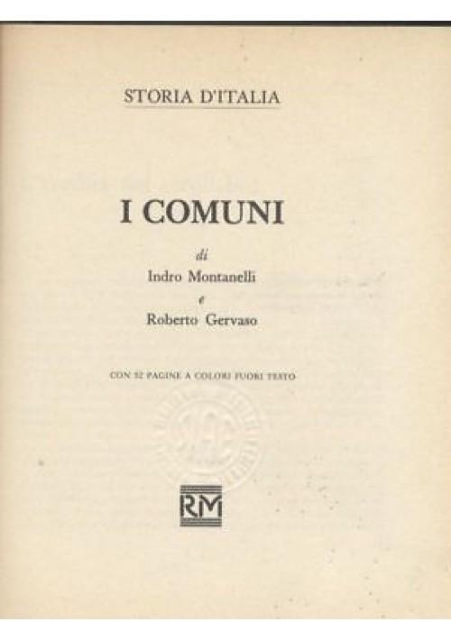 I COMUNI di Indro Montanelli e Roberto Gervaso - storia d'Italia 1975 Rizzoli