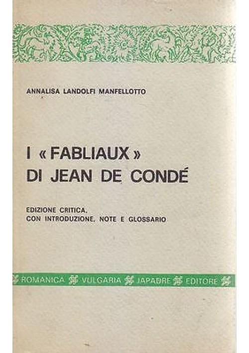 I FABLIAUX DI JEAN DE CONDE'  Edizione Critica con introduzione note e glossario