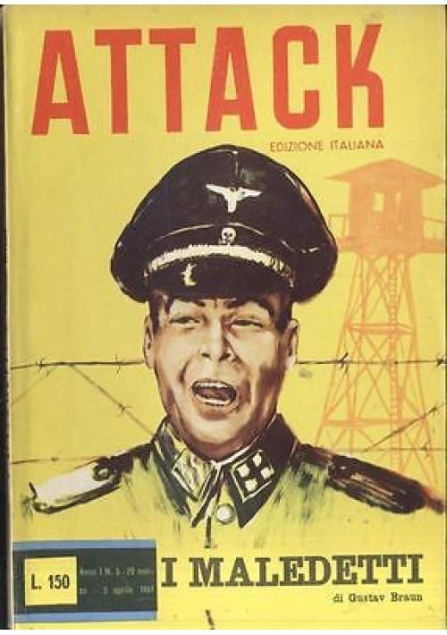 I MALEDETTI di Gustav Braun  ATTACK RACCONTI DI GUERRA 1961